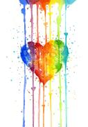 Rainbow Watercolor Heart - Olga Shvartsur